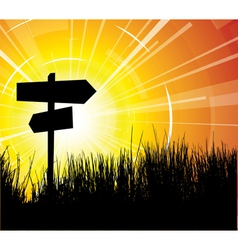 Crossroads vector