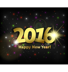 Greeting card 2016 happy new year vector