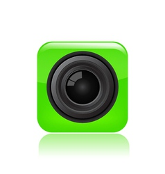 Camera eye icon vector