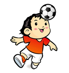 Soccer players mascot ball stunts beak vector