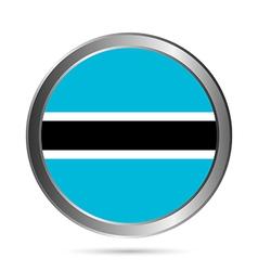 Botswana flag button vector
