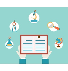 Concept of study hands holding book vector