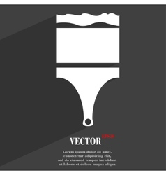 Paint brush icon symbol flat modern web design vector