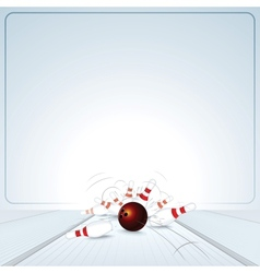 Bowling strike ball vector