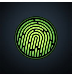 Fingerprint identification system with green vector
