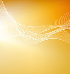 Abstract orange background with lines vector