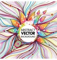 Funky abstact background vector