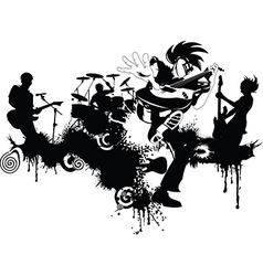 New punk rock graffiti vector