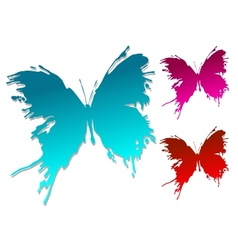 Colourful butterfly blots vector