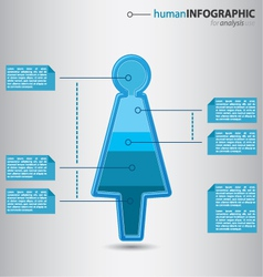 Human woman figurine with graphic value presentati vector