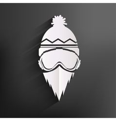 Snowboarder icon vector