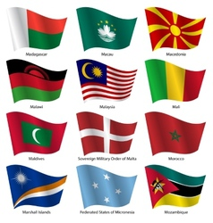 Set flags of world sovereign states vector