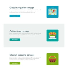 Website headers or promotion banners templates vector