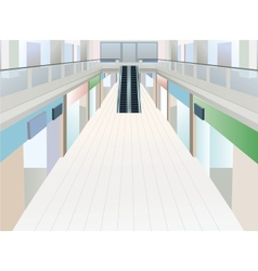 Shopping mall with two floors vector