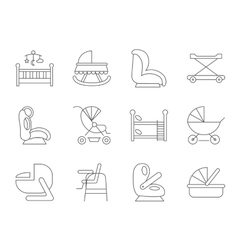 Baby furniture vector