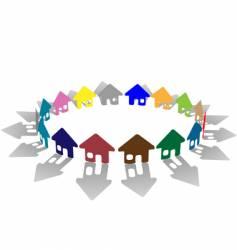 House symbol vector