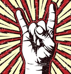 Rock on vector