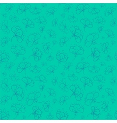 Elegant colorful flowers seamless pattern vector