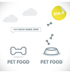 Pet shop icons vector