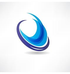 Abstract blue water icon vector