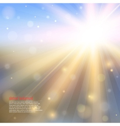 Abstract background with shining sun vector