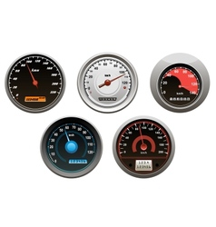 Car speedometers set vector