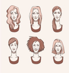 Four races woman vector
