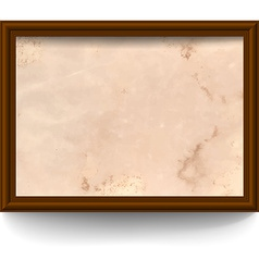 Frame with aged paper vector