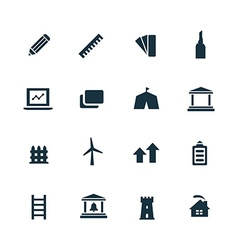 Set of architecture icons vector