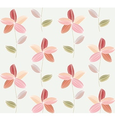 Flower petal on a white background vector