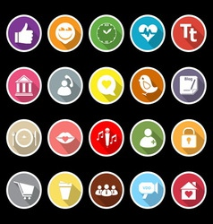 Chat conversation flat icons with long shadow vector