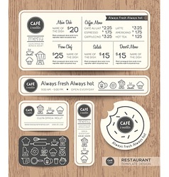 Restaurant cafe set menu graphic design template vector