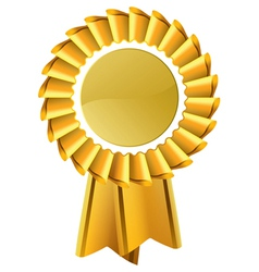 Gold award seal rosette vector