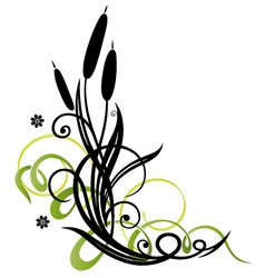 Reed decoration vector