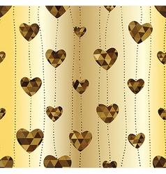 Garland with golden heart vector