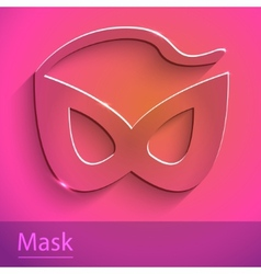 Mask sign glass icon vector