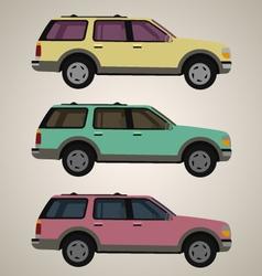 Flat 4x4 car 1 vector