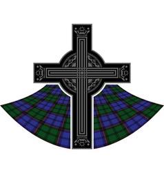 Scottish celtic cross vector