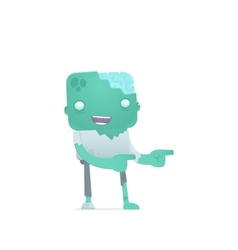 Funny cartoon zombie vector