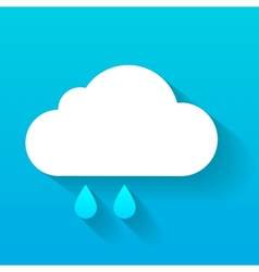 Day cloud and rain drops isolated on blue vector
