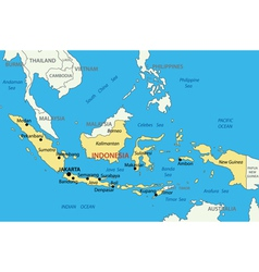 Republic of indonesia - map vector