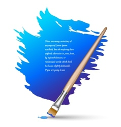 Paint brush background vector