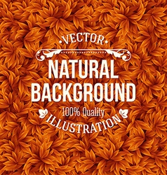 Natural pattern made of green leaves vector