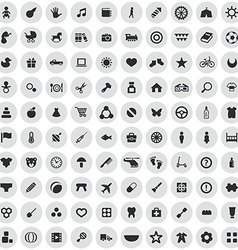 100 baby kids icons vector