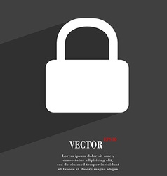 Pad lock icon symbol flat modern web design with vector