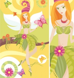 Tree fairy vector
