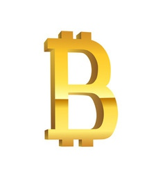 Bitcoin golden currency symbol vector