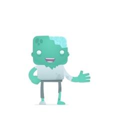 Funny cartoon zombie vector