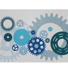 Machine gear wheel cogwheel pattern vector