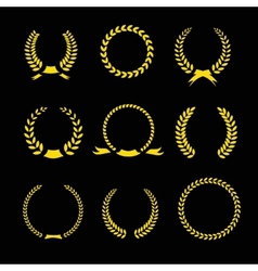 Laurel wreaths collection vector